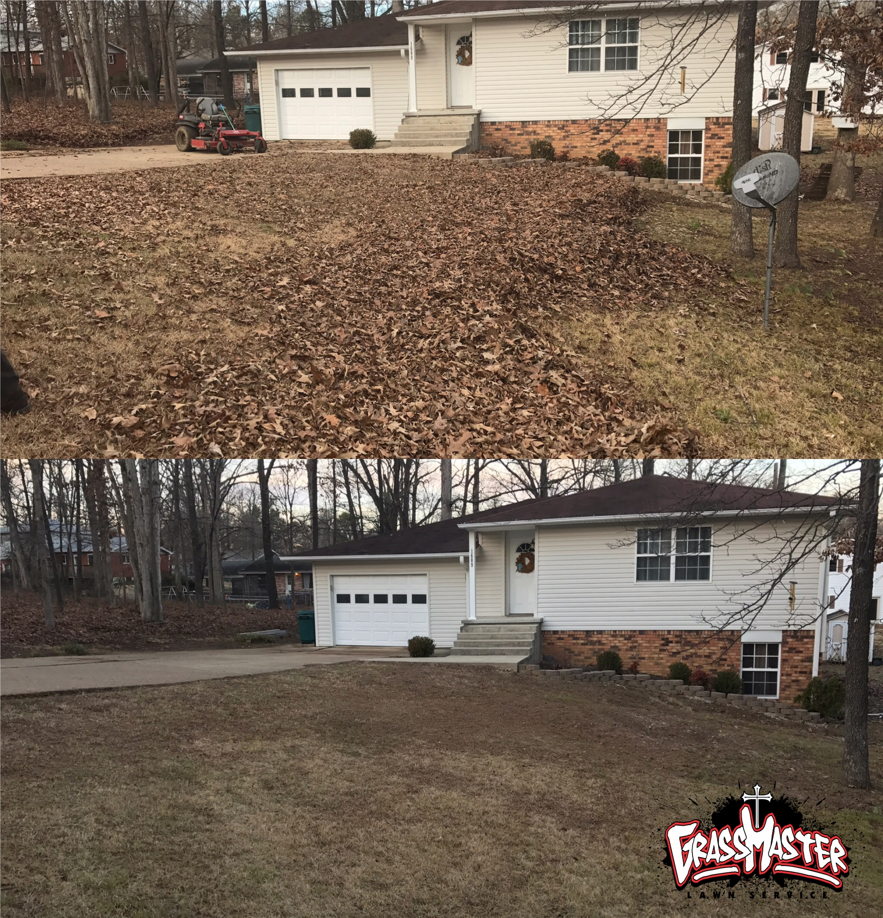 Leaf Cleanup and Removal in Poplar Bluff, MO - GrassMaster Lawn Service